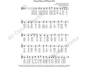 Sweet Hour of Prayer Female Choir Sheet Music SA 2-part Make unlimited copies of sheet music and the practice music.