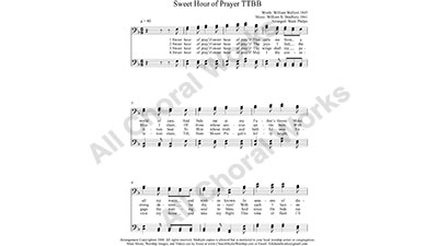 Sweet Hour of Prayer Male Choir Sheet Music TTBB 4-part Make unlimited copies of sheet music and the practice music.