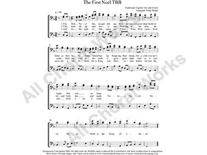The First Noel Male Choir Sheet Music TBB 3-part Make unlimited copies of sheet music and the practice music.