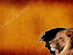 The Lion in Christ - Parchment Christian Worship Background. High quality worship images for use to spread the Gospel and enhance the worship experience.