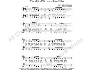 What A Friend We Have in Jesus Female Choir Sheet Music SSAA 4-part Make unlimited copies of sheet music and the practice music.