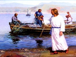 Cast your nets to the other side Christian Worship Image. High quality worship images for use to spread the Gospel and enhance the worship experience.