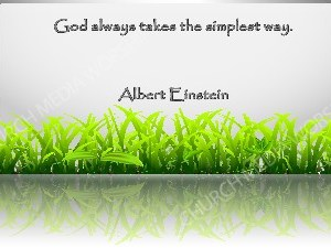 Albert Einstein Quote V1 Christian Worship Image. High quality worship images for use to spread the Gospel and enhance the worship experience.