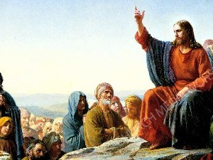 Jesus Teaching Christian Worship Image. High quality worship images for use to spread the Gospel and enhance the worship experience.