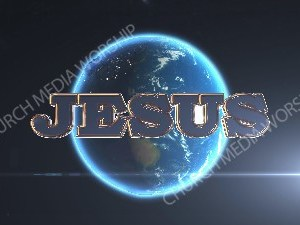 Jesus over the earth  Christian Worship Image. High quality worship images for use to spread the Gospel and enhance the worship experience.