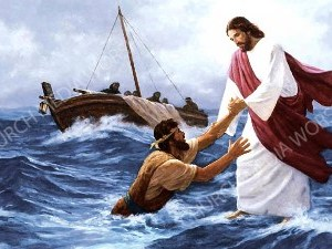 Jesus Walk on Water Christian Worship Image. High quality worship images for use to spread the Gospel and enhance the worship experience.