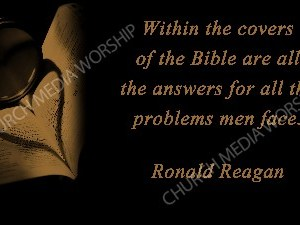 Reagan quote V3 Christian Worship Image. High quality worship images for use to spread the Gospel and enhance the worship experience.