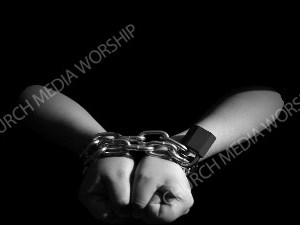 Chains binding Christian Worship Image. High quality worship images for use to spread the Gospel and enhance the worship experience.