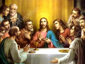 Last supper V3 Christian Worship Image. High quality worship images for use to spread the Gospel and enhance the worship experience.