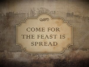 Come For The Feast Is Spread Singalong Christian Video HD. With perfectly timed Lyrics. Easy to follow and sing Video and Audio to enhance the Worship experience.