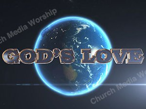 Gods Love over the earth Christian Animated Still A professional animated intro that's stops on a still image without continuous movements distracting the audience.