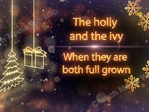 The Holly and the Ivy Singalong Christian Video HD. With perfectly timed Lyrics. Easy to follow and sing Video and Audio to enhance the Worship experience.