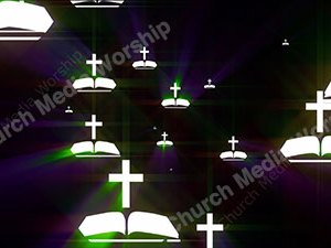 Bible Cross Rainbow Christian Worship Loop Video Perfectly timed for no glitches in 1080P HD. Room for lyrics