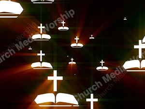 Bible Cross Fire Christian Worship Loop Video Perfectly timed for no glitches in 1080P HD. Room for lyrics