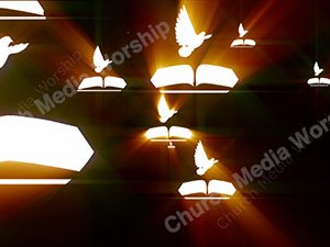 Bible Dove Fire Christian Worship Loop Video Perfectly timed for no glitches in 1080P HD. Room for lyrics