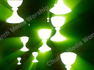 Chalice Green Christian Worship Loop Video Perfectly timed for no glitches in 1080P HD. Room for lyrics