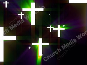 Cross Rainbow Christian Worship Loop Video Perfectly timed for no glitches in 1080P HD. Room for lyrics