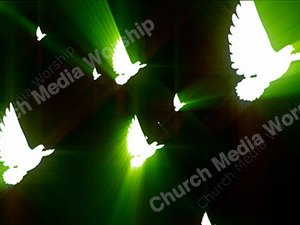 Dove Green Christian Worship Loop Video Perfectly timed for no glitches in 1080P HD. Room for lyrics