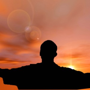 Man with arms wide Moving Sun Christian Video Clip Use as a standalone or added as a clip to make a themed Christian video. Enhance the Worship experience.
