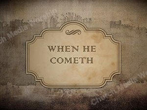 When He Cometh Singalong Christian Video HD. With perfectly timed Lyrics. Easy to follow and sing Video and Audio to enhance the Worship experience.