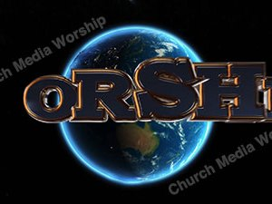 Worship over the earth Christian Animated Still A professional animated intro that's stops on a still image without continuous movements distracting the audience.
