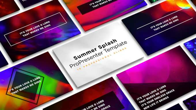 Free Summer Splash Propresenter Template Cmg Church Motion Graphics