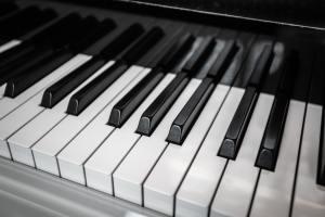 Piano Keyboard. Piano keys viewed from above