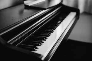 black and white color of classical Piano key