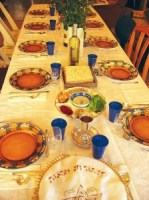 Dinner set for Seder (Jewish Passover meal)Photo by Gilabrand at en.wikipediaUsed under CCA-SA