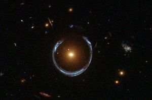 """A """"horseshoe Einstein ring"""" taken by HubbleClick to see full image"""