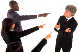 """""""Team Pointing Finger At Colleague""""Image courtesy of Ambro at FreeDigitalPhotos.net"""