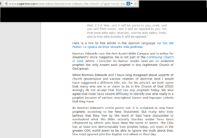 Screenshot of COGWriter article on prophets