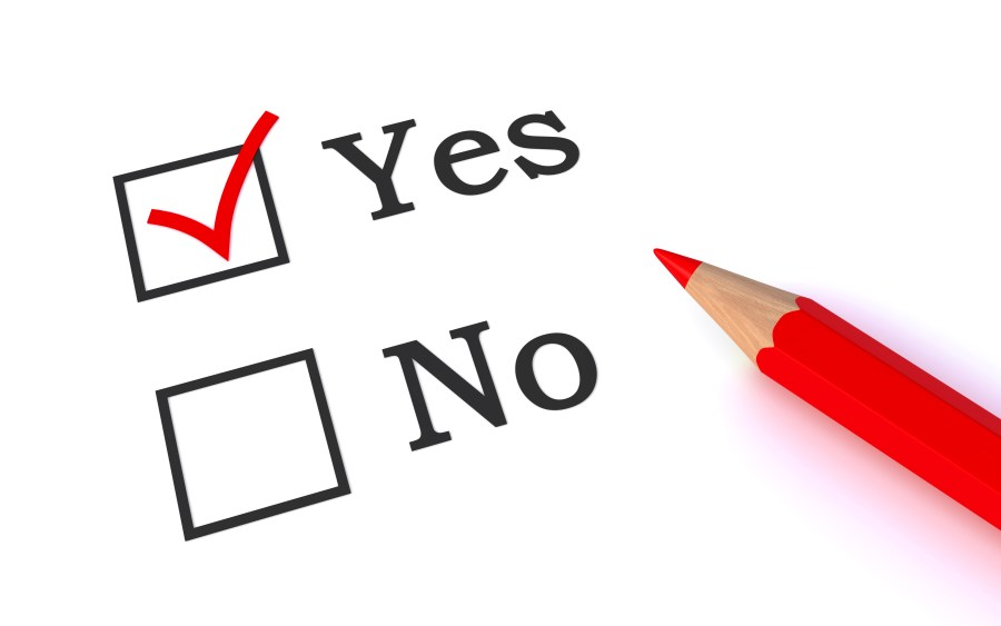 Yes/No checkboxes