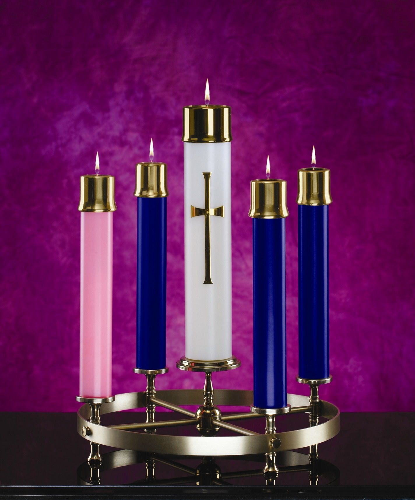 Advent Oil Candle Wreath