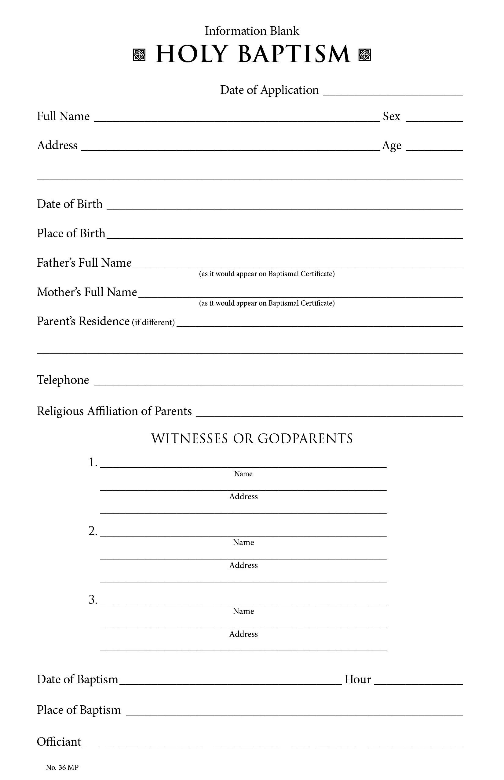 Churchpublishing Baptismal Information Form 35