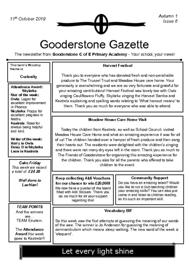 thumbnail of Gooderstone Gazette 11th Oct