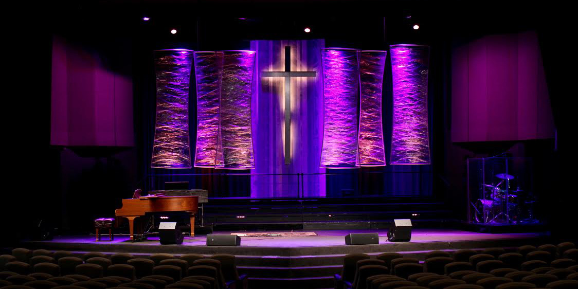 Shrunk And Bowed Church Stage Design Ideas