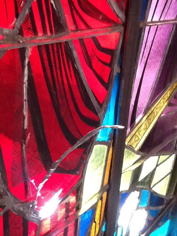 Sunset SA - Jesus Window Interior Damage (2)