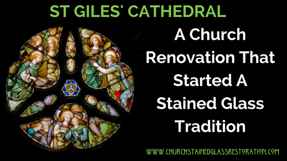 Church stained glass restoration st giles (1)