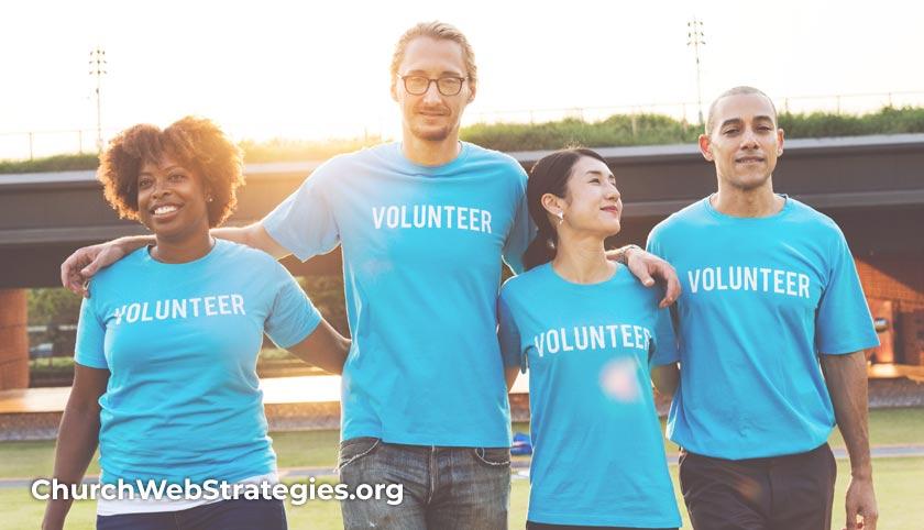 Diverse group of volunteers