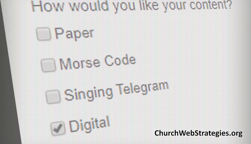 Be a Digital by Default Church
