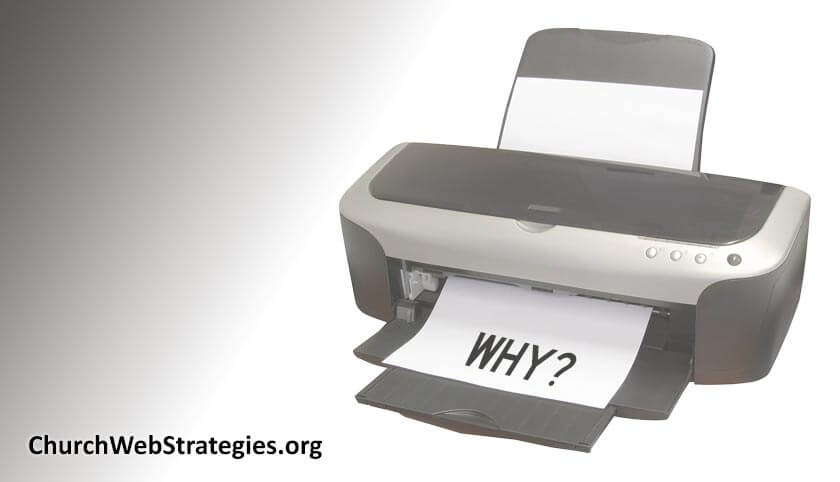 """printer with paper that says """"why?"""""""