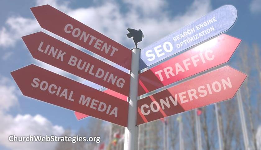 street signs with SEO directions
