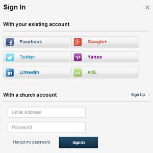Social Media Sign-In