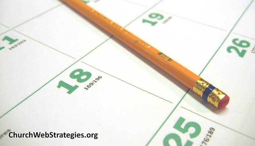 Website Maintenance Calendar