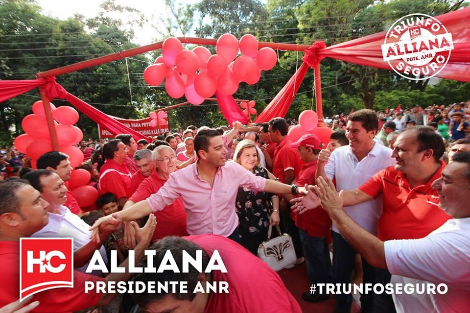 El candidato a la presidencia de la ANR Pedro Alliana promete defender al gobierno de Horacio Cartes.