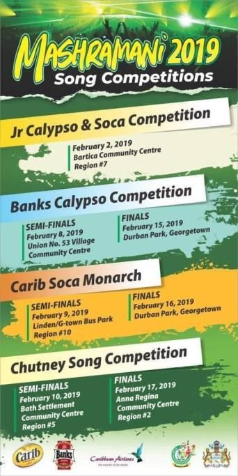 Mashramani 2019 Song Competitions