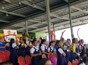National Carnival Schools Intellectual Chutney Soca Monarch Competition 2019 School Children Enjoying Performance