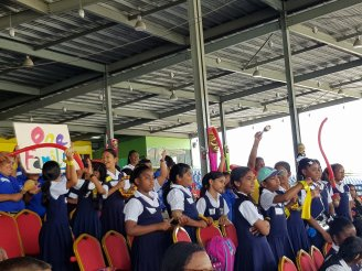 National Carnival Schools Intellectual Chutney Soca Monarch Competition 2019 School Children Enjoying Performance