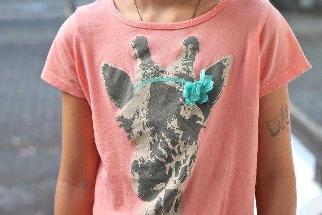 Monday Mode ☆ JCrew Giraffe T-Shirt ☆ First Day Of School